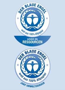 Der blaue Engel kennzeichnet Produkte, die aus ökologischer Sicht die beste Wahl sind und dient deshalb Verbrauchern als Entscheidungshilfe.