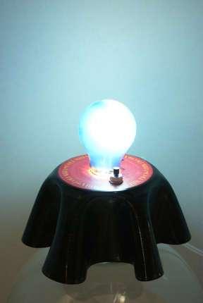 Vinyl-Nachttischlämpchen (funktioniert auch mit Energiesparlampe)