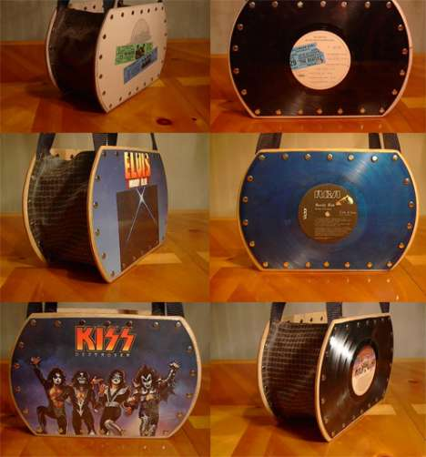 Vinyl-Handtäschchen