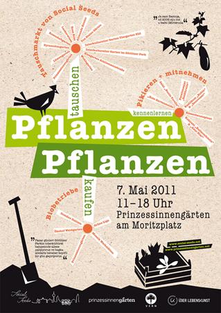 Plakat Pflanzentauschmarkt
