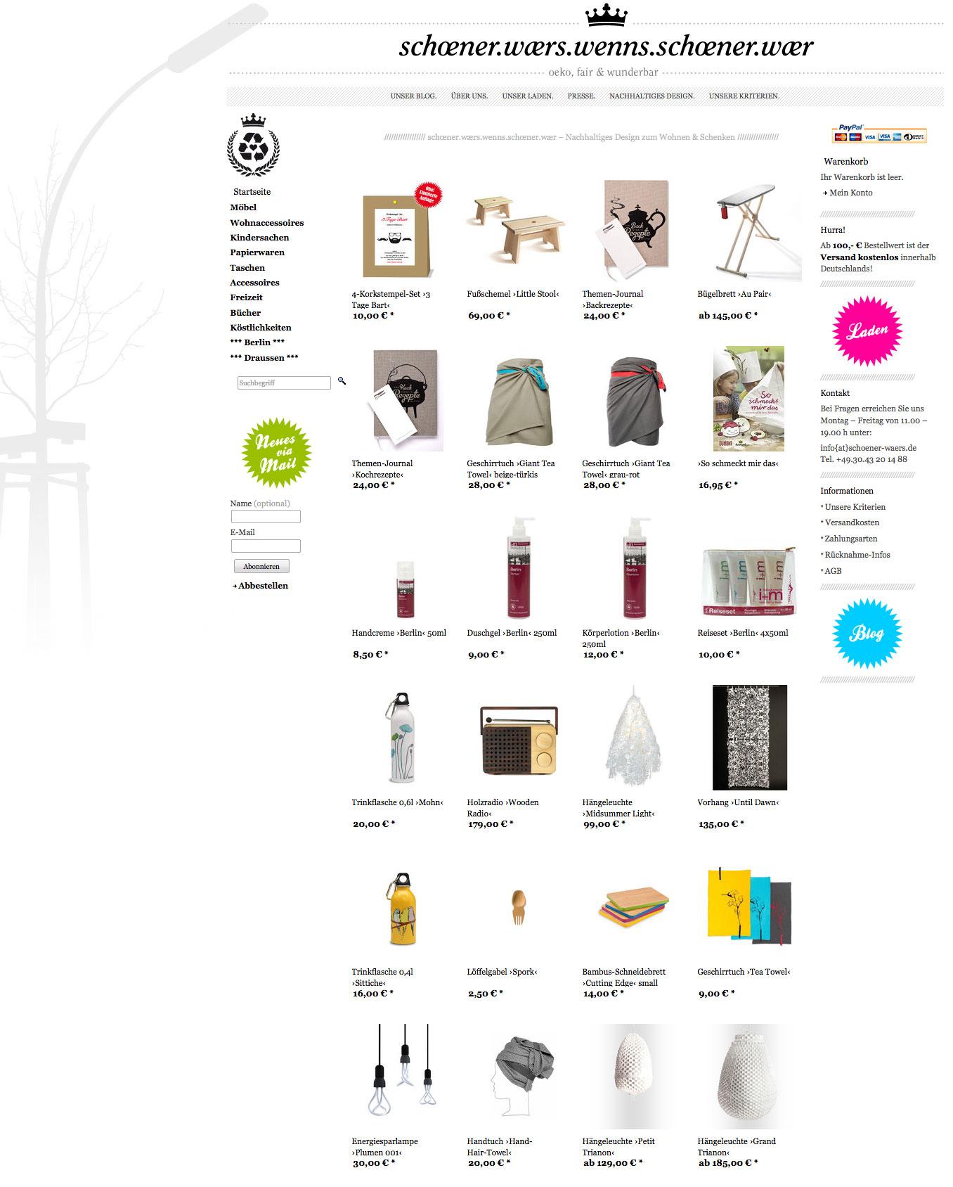 onlineshop sch ner w. Black Bedroom Furniture Sets. Home Design Ideas
